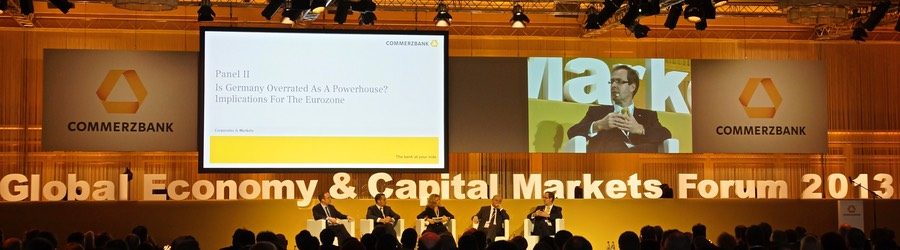 Commerzbank AG Global Economy & Capital Markets Forum 2013 Marriott Hotel Frankfurt SANDBURG event production support